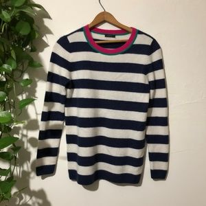 Halogen 100% Cashmere Striped Sweater Small